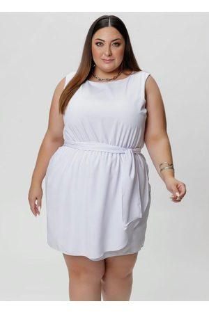 Mink Mulher Vestidos - Vestido Plus Size com Faixa na Cintura
