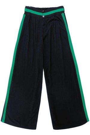 Gris Calça Pantalona em Viscose