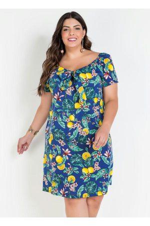 Marguerite Vestido Ombro a Ombro Frutas Plus Size