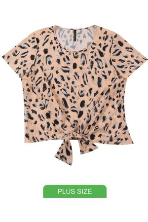 Cativa Plus Size Blusa com Estampa Animal Print