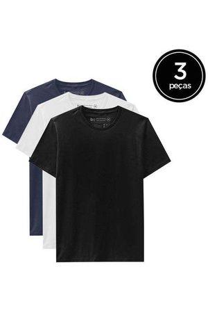 Basicamente Kit de 3 Camisetas Básicas de Várias Cores