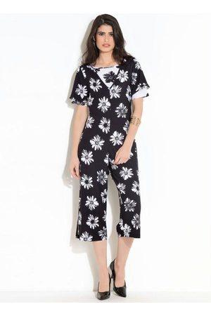 QUEIMA ESTOQUE Mulher Macacão - Macacão e Blusa Quintess Floral e Branco