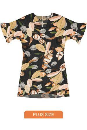 Secret Glam Mulher Vestido Estampado - Vestido Plus Size Estampado