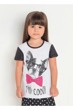 Rosalie Menina Camiseta - T-Shirt Infantil Estampa Dog Moda Evangélica