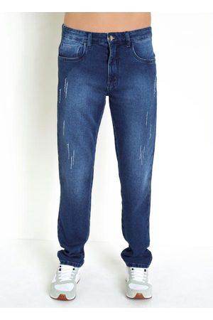 Actual Calça de Moletom Jeans com Efeito Puído