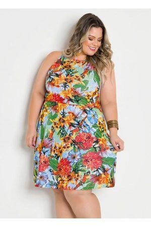 Marguerite Vestido de Alças Plus Size Tropical