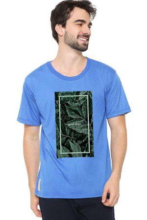 Eco Canyon Homem Manga Curta - Camiseta Masculina Good Vibe Blue