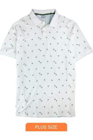 Wee Malwee Camisa Branca Polo Coqueiros em Piquê