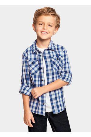 Alakazoo Menino Camisa Manga Comprida - Camisa Tecido Tricoline