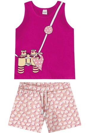 Rovitex Kids Menina Short - Conjunto Regata com Shorts