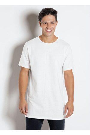 QUEIMA ESTOQUE Homem Manga Curta - Camiseta com Estampa nas Costas Branca