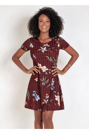 QUEIMA ESTOQUE Mulher Vestido Estampado - Vestido Evasê com Estampa Floral