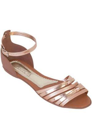 QUEIMA ESTOQUE Mulher Sandálias - Rasteirinha Cobre com Detalhes Metalizados