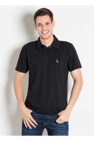 QUEIMA ESTOQUE Homem Camisa Formal - Camisa PretaPolo com Peitilho Contraste