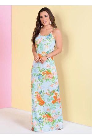 QUEIMA ESTOQUE Mulher Vestido Estampado - Vestido de Alças Floral