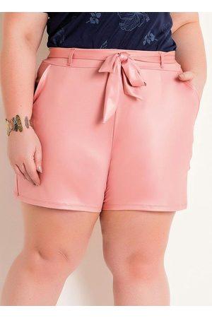 Marguerite Mulher Short - Short em Cirrê Plus Size com Amarração