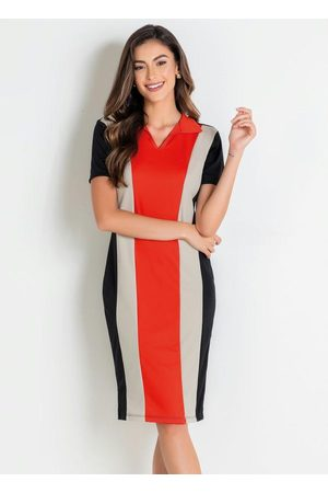ROSALIE Vestido Polo Tricolor Moda Evangélica