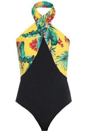QUINTESS Mulher Body - Body Folhas Amarela