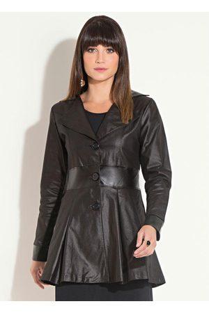 QUINTESS Mulher Trench Coat - Sobretudo Resinado