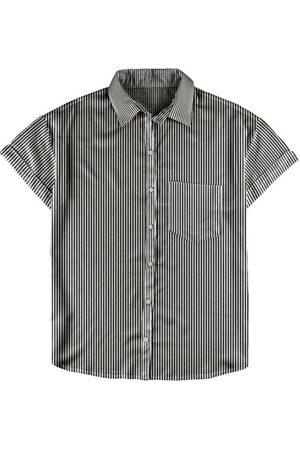 Malwee Camisa Manga Curta - Camisa Preta Estampada