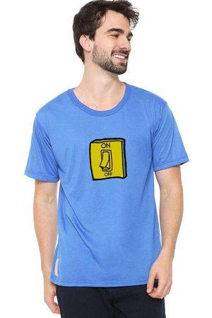 Eco Canyon Homem Manga Curta - Camiseta Masculina Interruptor Blu