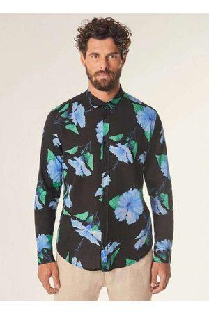 Reserva Homem Camisa Casual - Camisa Ml Hibisco Medio