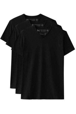 Basicamente Kit de 3 Camisetas Básicas Gola V