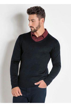 Actual Homem Suéter - Suéter com Gola em V