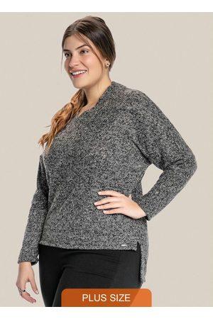 Vinculo Basic Blusa Plus Size com Decote Transpassado