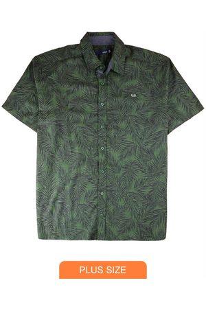 Wee Malwee Homem Camisa Manga Curta - Camisa Tradicional Folhagens