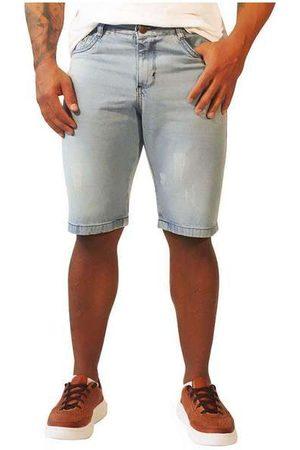 Sandro Moscoloni Homem Bermuda - Bermuda Jeans Masculina Basic Azu