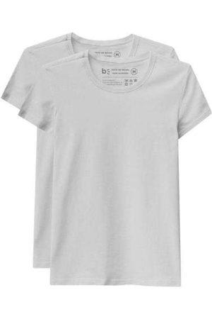 Basicamente Kit de 2 Camisetas Babylook Básicas