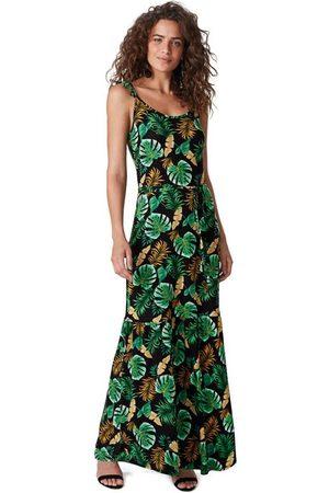 Malwee Mulher Vestido Estampado - Vestido Longo Estampado Conforto