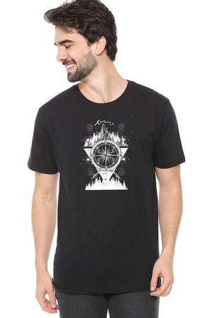 Eco Canyon Homem Manga Curta - Camiseta de Algodão Masculina Bússola P