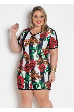 Marguerite Macaquinho Floral Plus Size com Amarração