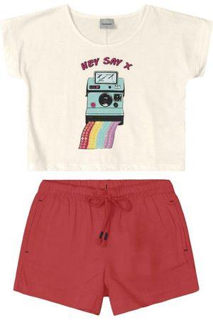 Rovitex Kids Menina Cropped - Conjunto Blusa Cropped com Shorts