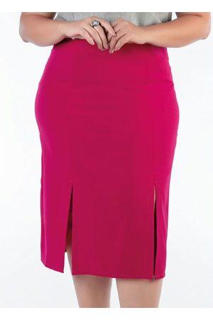 Mink Mulher Saia Lápis - Saia Lápis Plus Size Pink