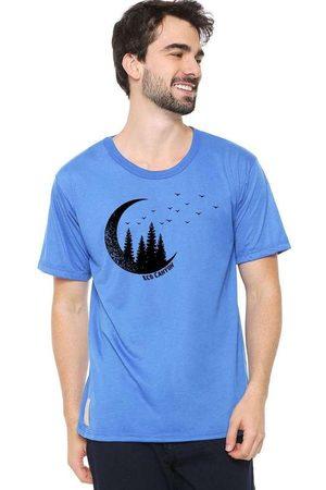 Eco Canyon Homem Manga Curta - Camiseta Masculina Lua Blue