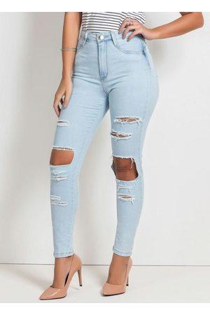 Sawary Jeans Mulher Calça Legging - Calça Super Lipo Legging Jeans Claro Sawary