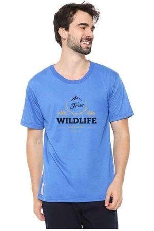 Eco Canyon Homem Manga Curta - Camiseta Masculina Wildlife Blue