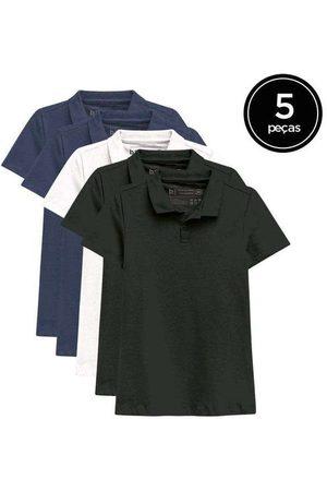 Basicamente Mulher Camisa Formal - Kit de 5 Camisas Polo Femininas de Várias Cores Az