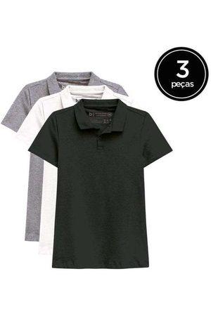 Basicamente Kit de 3 Camisas Polo Femininas de Várias Cores Pr