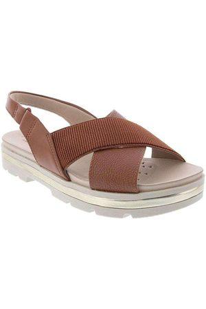 Modare Ultraconforto Sandália Plataforma Caramelo