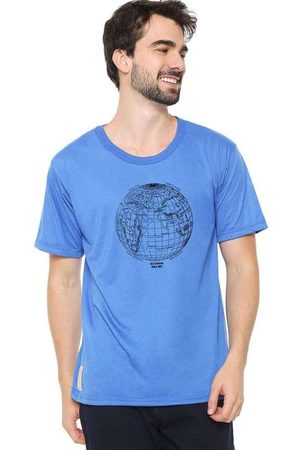 Eco Canyon Camiseta Masculina Mundi Blue
