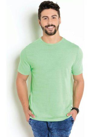 Actual Homem Manga Curta - Camiseta Neon com Manga Curta