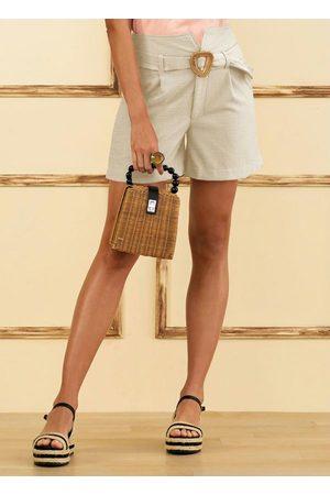 Doce Trama Mulher Short - Shorts Sepia