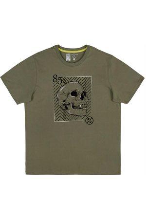 Fido Dido Homem Manga Curta - Camiseta Estampada com Bordado
