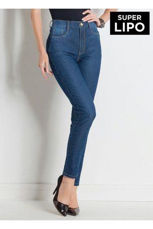 Sawary Jeans Mulher Modeladoras & Cintas - Calça Legging com Cinta Modeladora