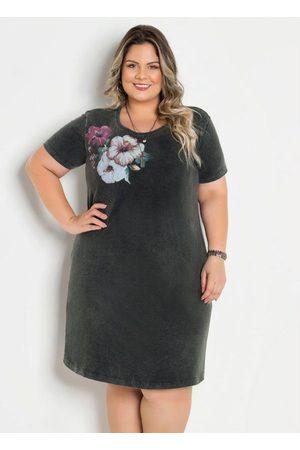 Marguerite T-Shirt Dress Marmorizado com Estampa Plus Size