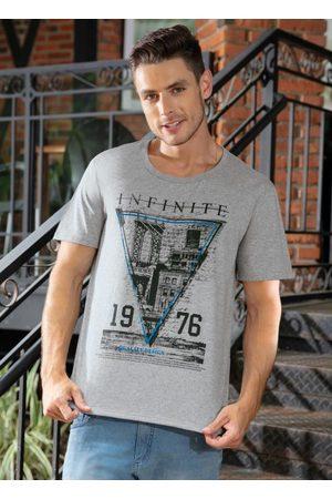 QUEIMA ESTOQUE Homem Manga Curta - Camiseta com Decote em V